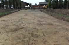 Réalisation d'une dalle en béton pour un silo de maïs
