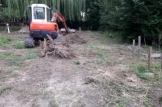 Réalisation égouttage, pose de gaines techniques et des fondations